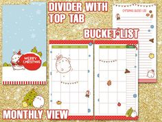 Christmas Planner personal size Molang Printable holiday planner filofax gift planner list checklist to do list budget tracker Get organized this holiday season with this funny and joyful printable planner! Size: personal (9,5 x 17,1 cm) (3.7x6.7) Perfect for filofax personal, kikki k