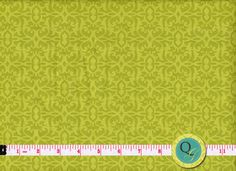 Designer Fabric By the Yard Lime Green tonal by QuiltingGarden, $7.49