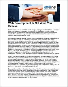 Web Development Is Not What You Believe