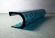 Source Wave Bar Table by Lee J Rowland Luxury Interior, Interior Architecture, Interior Design, Design Furniture, Chair Design, Pub Table Sets, Bar Tables, Restaurant Furniture, Elegant Table
