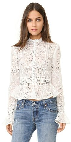 The Price of Pretty's Pick for the ShopBop Sales -Nicholas Vintage Organdy Top White Shirts Women, Blouses For Women, Casual Wear, Casual Outfits, Stylish Tops, Blouse Dress, Look Chic, White Denim, Vintage Ladies