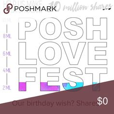 SHARE SHARE SHARE! Happy Birthday Poshmark!! Keep those shares coming and help support the community! Non stop parties ALL DAY today! Happy Holidays everyone! Accessories