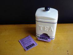 Tea for Two  Vintage Teabag Dispenser  Tea by HappyGoVintage, $16.00