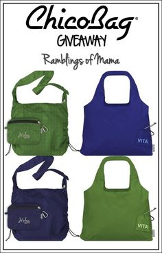 Ramblings of Mama: ChicoBag: Green your Shopping with Reusable Bags