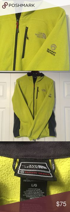 Men's North Face Summit Series Jacket Men's Lime Green Fleece Jacket. Light Weight and really comfortable. Like new! Only worn a few times, the fleece is in great condition- no pilling. Unique color- it's like a electric yellow green. Offers suggested! The North Face Jackets & Coats