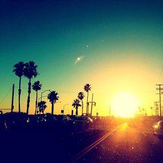 Sunset on the Pacific Coast Highway…  #Malibu #PCH #sunset