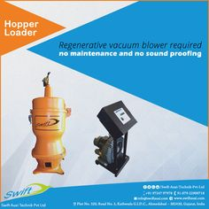 Hopper Loader by Swift Auxi Technik has the regenerative vacuum blower which requires no maintenance and no sound proofing for optimum mechanism.   #HopperLoader #HopperLoaderManufacturers #HopperLoaderSuppliers #HopperLoaderExporters