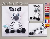 Amigurumi Pattern, Zebra, Animal Crochet Pattern, CP-149