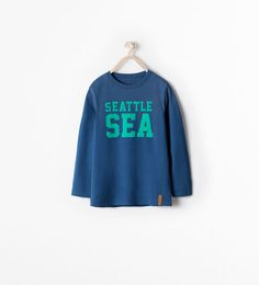 "Image 1 of ""SEATTLE"" T-SHIRT from Zara"