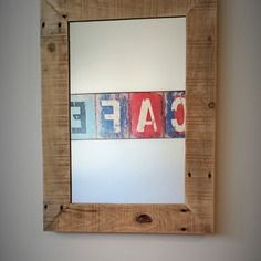 Miroir en bois de palette