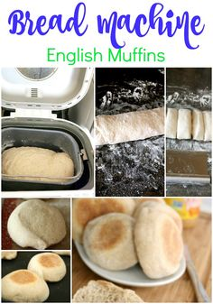 I've seen all kinds of recipes for Homemade English Muffins. The problem is, most recipes call for special rings - I'm just not into that. What if I let my electric bread maker do the work for me? The bread machine does the bulk of the mixing, kneading, a Easy Bread Machine Recipes, Bread Maker Machine, Best Bread Machine, Bread Maker Recipes, Bread Machines, English Muffin Recipes, English Muffin Bread, Homemade English Muffins, English Food