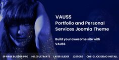 Buy VAUSS - Portfolio and Personal Services Joomla Template by payothemes on ThemeForest. VAUSS is a premium Joomla template for Portfolio and Personal Services, responsive, high-performance Portfolio and Pe. Creative Design, Web Design, Joomla Themes, Portfolio Presentation, Joomla Templates, Social Icons, Some Text, Creative Portfolio, Drupal