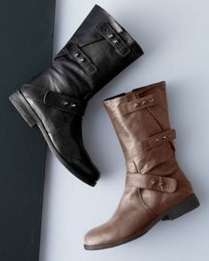 Leather riding boots riding boots and tans on pinterest for Eileen fisher motor boots