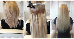 50 cm-es hajhosszabbítás keratinos hőillesztéses technikával 10.1-es világosszőke színű hajfesték alkalamazásával Techno, Techno Music