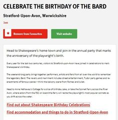 Celebrate the birthday of the Bard | Visit England