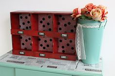 Up-cyled Furniture- 8 easy ways to use GIANT washi tape from Hazel & Ruby