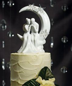 Topo de bolo em porcelana. Inspire-se e escolha o seu topo de bolo preferido! #casamento #casarcasar