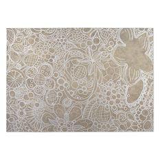 Kavka Designs / Tan Expressions 2' x 3' Indoor/ Outdoor Floor Mat