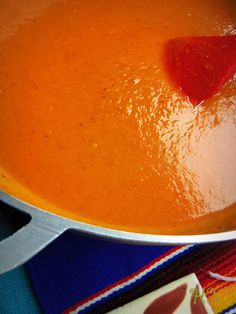 Tips~ Not only is this Roasted Tomato Chile Sauce great for enchiladas, tortas ahogadas and taquitos, but add a little more broth and you have a delicious soup!