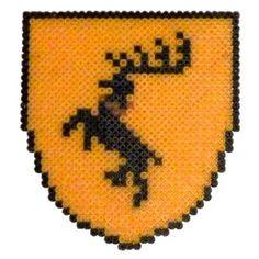 Baratheon shield perler beads by Garrosa on deviantART