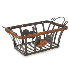 Metal cockerel basket - ideal for storing fruit or vegetables