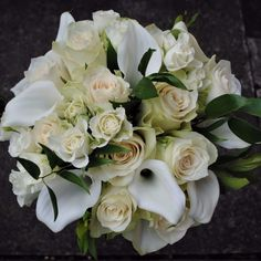 Chirpee Flowers by Steph Willoughby.Wedding floristry in Sussex. Wedding bouquets, flowers and Venue specialist. Rose Wedding Bouquet, White Wedding Flowers, Rose Bouquet, Wedding White, White Lily Bouquet, White Lilies, White Roses, Cream Wedding, Our Wedding