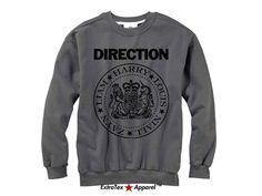 One Direction Ramones Sweatshirt  1D Ramones by ExtraTexApparel