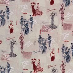 Timeless Treasures House Designer - Paris - Couture Ladies in Linen