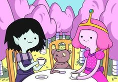 Marceline and princess bubblegum when they were kids