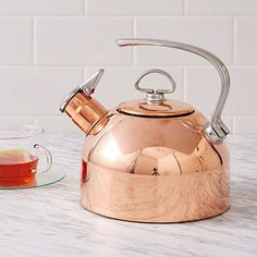 Copper Kettle at West Elm - Kitchen Tools & Utensils - Kitchen Accessories West Elm, Copper Tea Kettle, Kitchen Decor Themes, Home Decor, Decorating Kitchen, Copper Decor, Copper Rose, Kitchen Essentials, Kitchen Gadgets