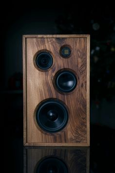 A very classy loudspeaker. Audiophile Speakers, Hifi Stereo, Hifi Audio, Bluetooth Speakers, Speaker Kits, Speaker Plans, Sound Speaker, Echo Speaker, Audio Box