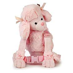 Goldbug para niños/ Mochila de bebé con arnés y rienda cachorro perro rosa