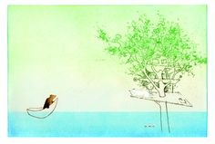 The Tree House . Wordless picture book by Marije Tolman and Ronald Tolman. Wordless Picture Books, Diagram, Map, World, Pictures, Painting, House, Seeds, Art