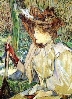 Henri de Toulouse-Lautrec - La Femme aux gants ou Portrait d'Honorine Platzer, 1891