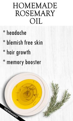 ROSEMARY INFUSED OIL RECIPE AND BENEFITS