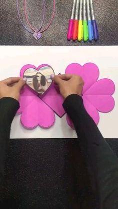 Diy Crafts Hacks, Diy Crafts For Gifts, Crafts For Teens, Cool Paper Crafts, Paper Crafts Origami, Fun Crafts, Diy Gifts For Friends, Diy Bff Gifts, Easy Halloween Crafts