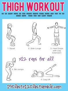Replace heel drops with calf raises on the machine and replace ski jumps with inner thigh workout