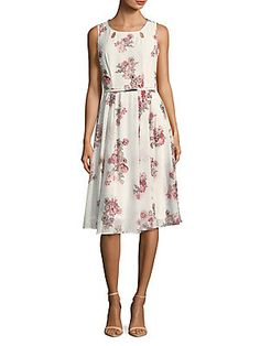 Gabby Skye Floral A-Line Dress