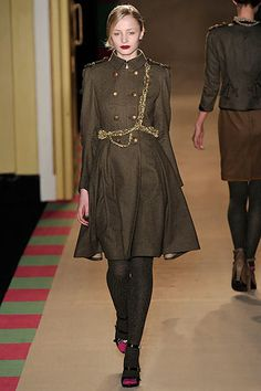 Military inspired. I love how this coat is military but has a soft, feminine drape at the same time.