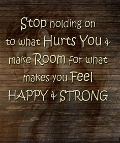 STOP HOLDING ON. MOTIVATIONAL QUOTES