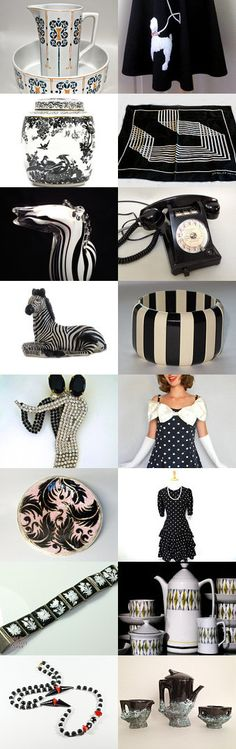 Black And White Design Vogueteam Voguet by Gena Lightle on Etsy--Pinned with TreasuryPin.com