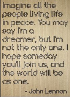 'Imagine all the people living life in...' quote by John Lennon, laser engraved on wooden plaque - Size: 8'x10' >>> For more information, visit image link. (This is an affiliate link) #Plaques