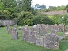 Headstones from 1600-1700s, no longer legible