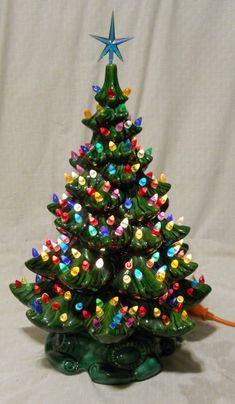 "Ceramic Christmas Tree VTG Complete 22"" toStar Multi color Lights ATLANTIC MOLD? Vintage Ceramic Christmas Tree, Christmas Mantels, Christmas Minis, Rustic Christmas, Christmas Holidays, Christmas Crafts, Xmas, Outdoor Christmas Decorations, Paper Decorations"