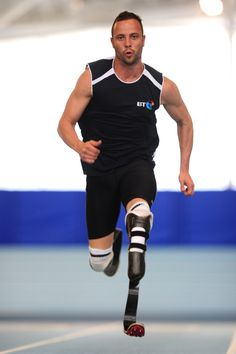 """Oscar Pistorius. AMAZING! So glad he got his dream of running in the olympics with guys with """"regular legs"""". Pure heart-warmth."""