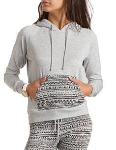 Tribal Print Hoodie Sweatshirt: Charlotte Russe
