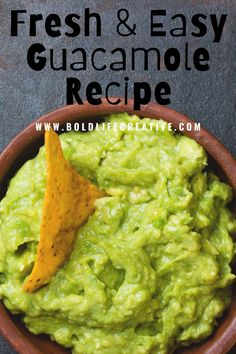 This fresh guacamole recipe is very easy to make and a constant crowd-pleaser. My boyfriend will eat the entire batch himself in one sitting!Pairs Perfectly with my easy homemade pico de gallo salsa recipe.Vegan & Gluten-Free. #guac #guacamole #easyrecipes #summerguacrecipe #5ingredientrecipes #vegan #glutenfree