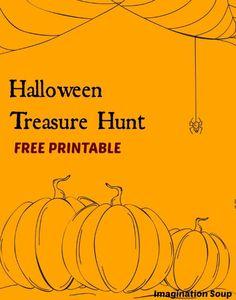 printable Halloween treasure hunt for kids - so fun!