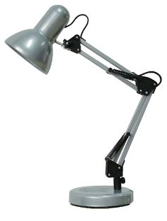 Samson - pracovná lampa - strieborný kov - 490mm