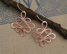 New in the shop- Looping Celtic Crossed Knots Copper Wire by nicholasandfelice